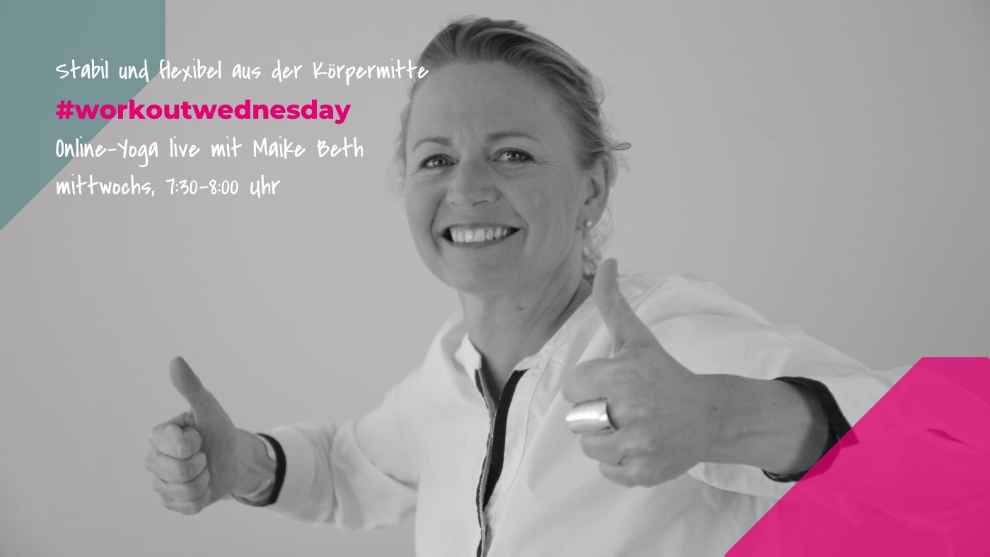 Herzlich Willkommen zum Kurs #workoutwednesday von BrilliantHealth mit Maike Beth!